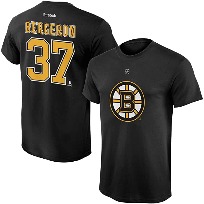 Patrice Bergeron Boston Bruins  37 Black Kids Home Name And Number T Shirt  (Kids 7b5ce67ec