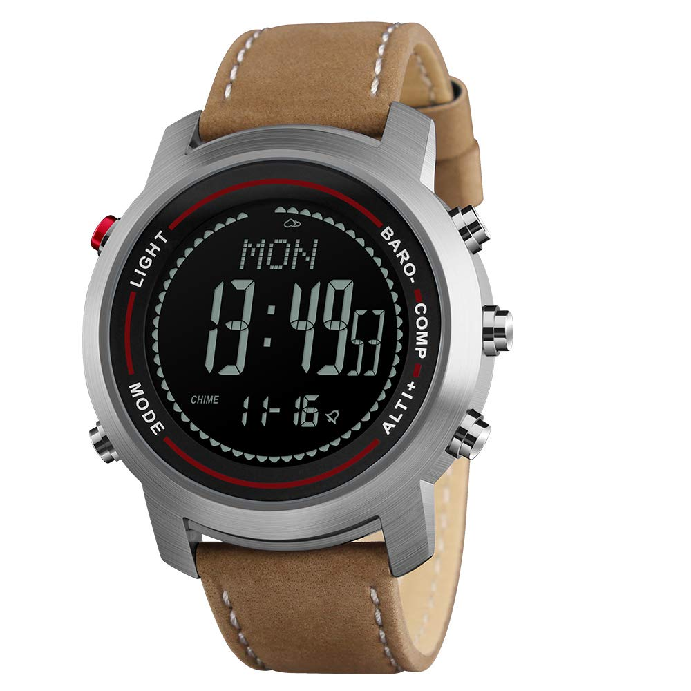 cc30e4f37 Amazon.com  Men Digital Sports Watches with Compass Pedometer Altimeter  Barometer Military Waterproof Wristwatch  Watches