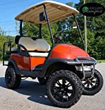 "Club Car Precedent Golf Cart 6"" Spindle Lift Kit + 14"" Steeleng VOODOO Wheels and 23"" All Terrain Tires (4)"