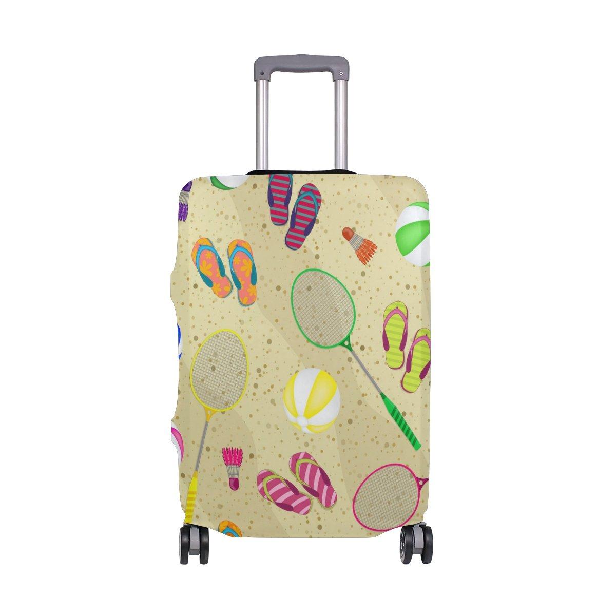 Hello Summer Beach Balls Badminton Suitcase Luggage Cover Protector for Travel Kids Men Women