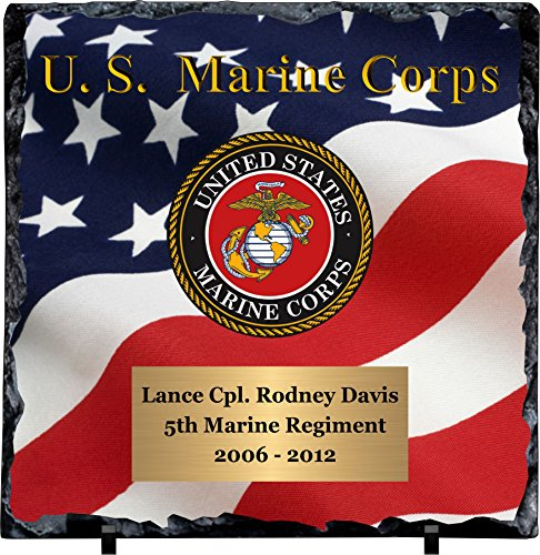 - Personalized Marine Corps Slate Plaque
