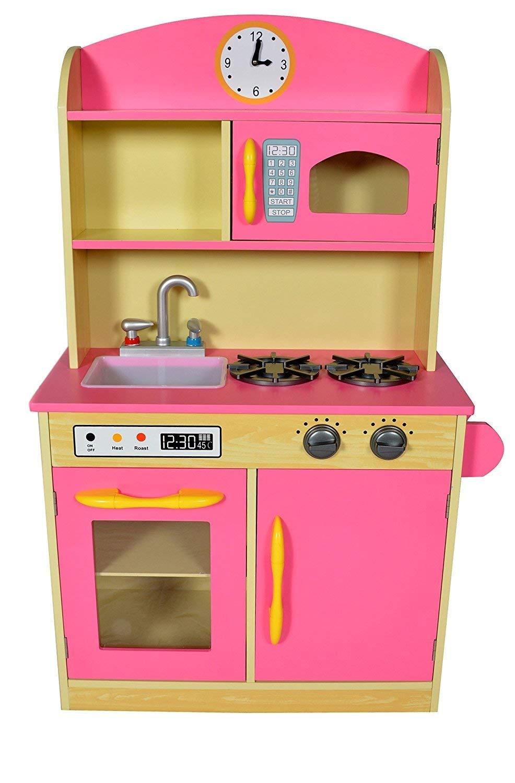 Teamson Kids Deluxe Childrens Wooden Kitchen Pretend Play Toy