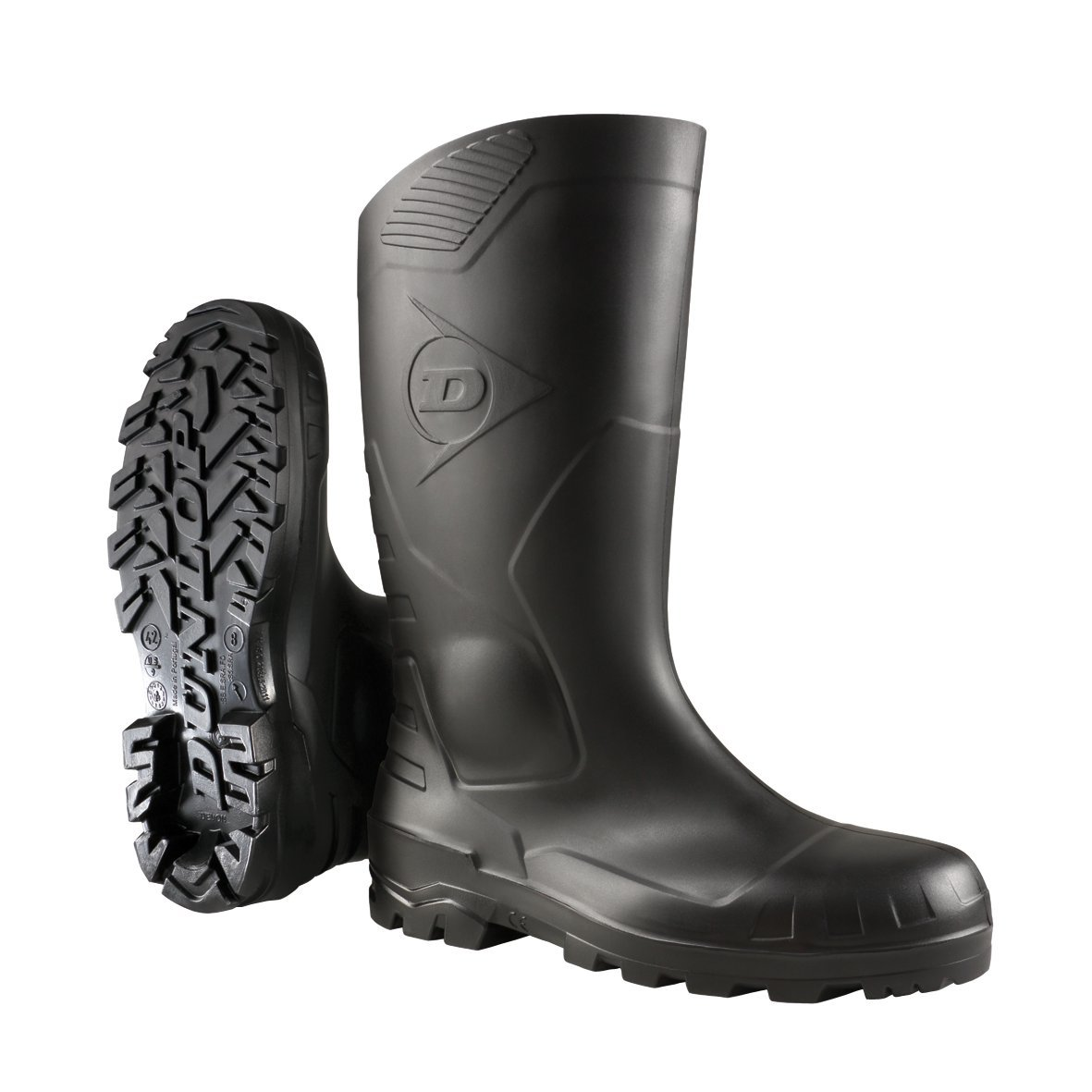 Dunlop Sicherheitsstiefel S5 H142011 mit Stahlkappe und Stahlsohle 47, Unisex-Erwachsene Langschaft Gummistiefel 142000