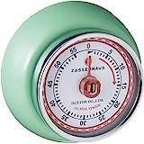 "Zassenhaus 60-Minute Magnetic Steel ""Retro"" Kitchen Timer, Mint Green"