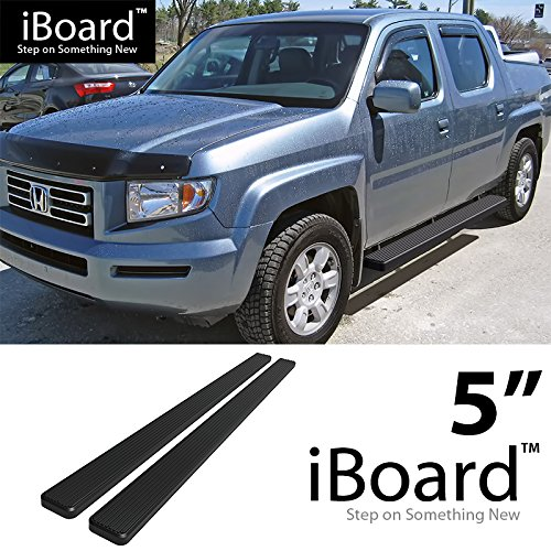 "eBoard Running Boards Black 5"" Fit 2006-2014 Honda Ridgeline Crew Cab Pickup 4-Door (Nerf Bars 