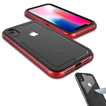 coque transparente iphone x rouge