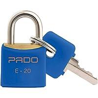 CADEADO CORES SM LT-20MM AZUL, Pado, 51016378, Azul