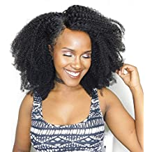 Unprocessed Virgin Mongolian Afro Kinky Curly Human Hair 3 Bundles Hair Weave Weft for Black Women Natural Black( 14 16 18 inch)