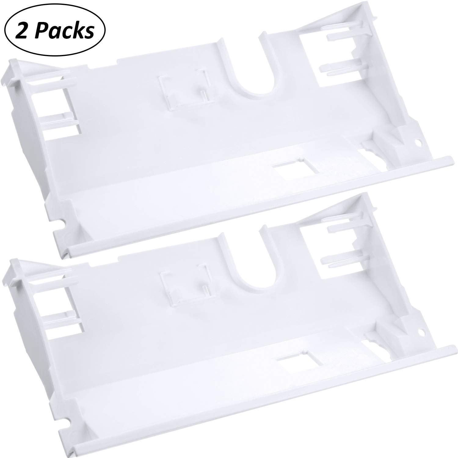 2 Pieces WP2180226 Bracket for Refrigerator Dispenser Control Compatible with Roper Maytag Kenmore Crosley Replace 2180226, 2180228, W10282667, PS11739027, EA327360