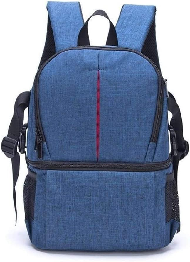 Color : Blue Saalising Photo Camera Bag DSLR Video Waterprpof Oxford Fabric Soft Padded Shoulders Backpack SLR Bag Case for Digital Camera Lens Tripod