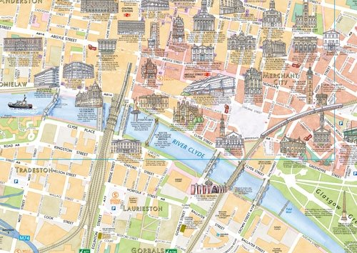 Collins Discovering Glasgow: The Illustrated Map (Collins