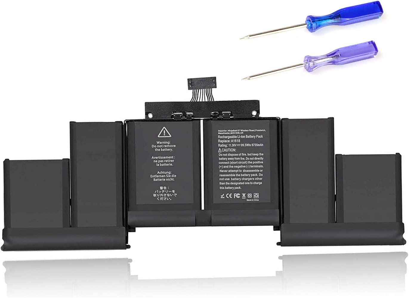 A1618 New Laptop Battery Replacement for A1618 A1398 Battery MacBook Pro 15