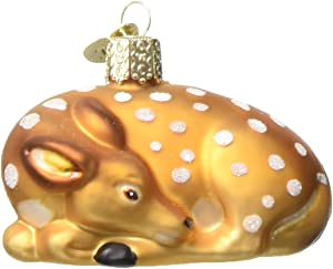 Old World Christmas Animal Collection Glass Blown Ornaments for Christmas Tree Fawn