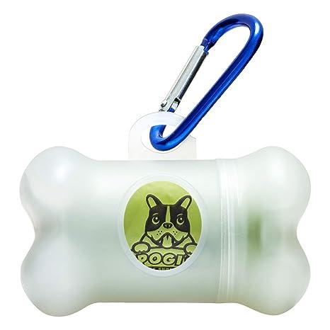 Pogis Poop Bags - Dispensador para bolsas - Incluye 1 Rollo (15 Bolsas) - Ecológicas, perfumadas, herméticas
