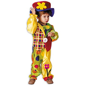 Net Toys Niedliches Clown Kostum Fur Kinder Farbenfroh In Grosse 3