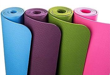 Green Mat De Yoga_6Mm Monocromática Verde Yoga Mat ...