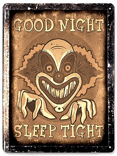 Clown Vampire METAL SIGN dracula horror Movie poster halloween Wall decor / vintage style wall decor 60]()