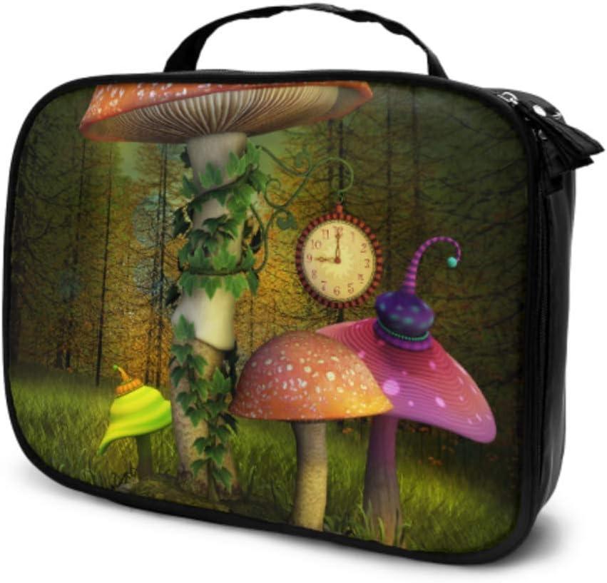 Elfos Enchanted Mushrooms Place 3 D Ilustración Travel Kids Maleta de Viaje Bolsa de Aseo pequeña de Viaje Bolsa de Aseo Grande para Mujer Bolsa Impresa multifunción para Mujer