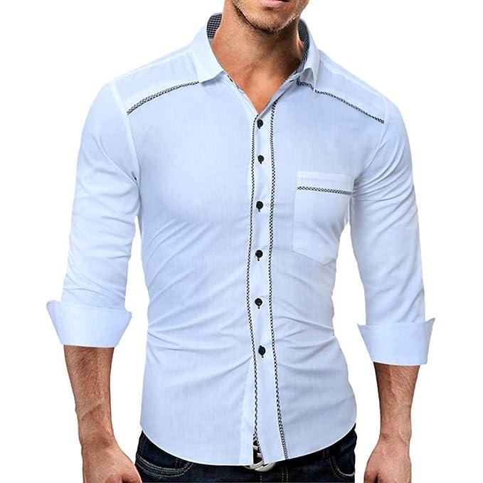 Manga Larga de Hombre Pure Camisas de Manga Larga de Manga Corta para Hombres Camisetas de