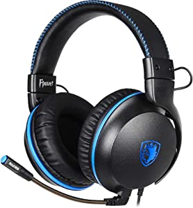 SADES Gaming Headset - FPOWER - Stereo Headsets Compatible with Computer Mobile Device, Noise Cancelling Mic Over-Ear Headsphones