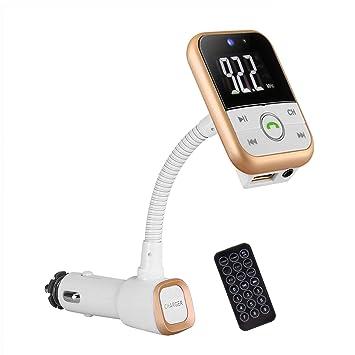 EinCar Radio Adaptador/Cargador Bluetooth FM Transmisor ...