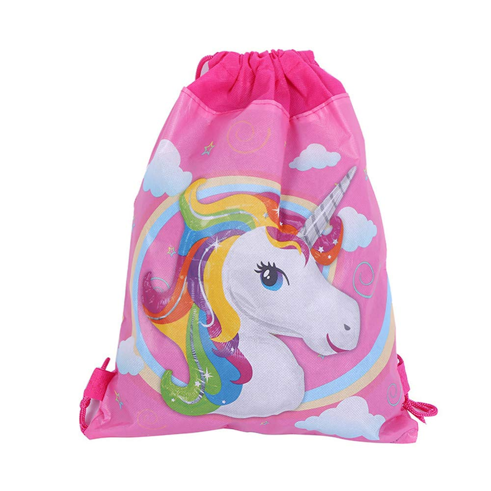 12 Pack Unicorn Gift Bags Drawstring Party Bag Unicorn Party Favors,10.6 * 13.4''