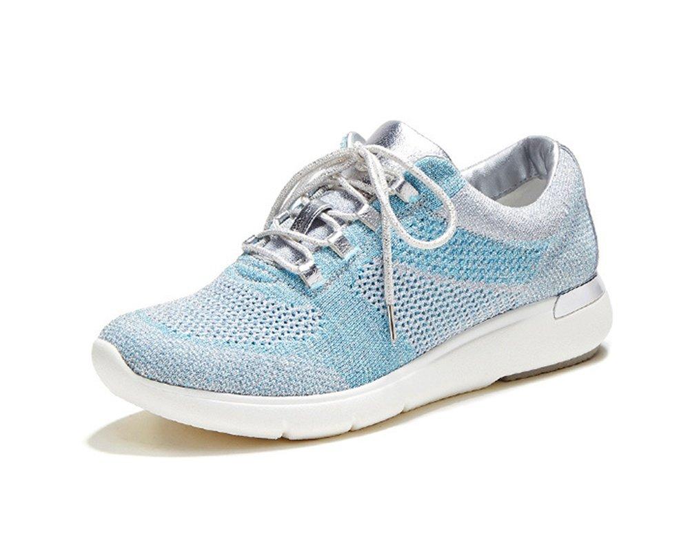 XIE Zapatillas con Cordones Planos Zapatillas Ocasionales Zapatillas de Deporte de Gran Tamaño Zapatillas de Running Summer Spring Autumn 35-40, Blue, 39 39|blue