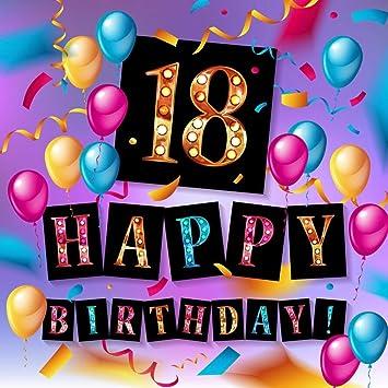 Amazon.com: Happy 18 cumpleaños fiesta fondo colorido globos ...