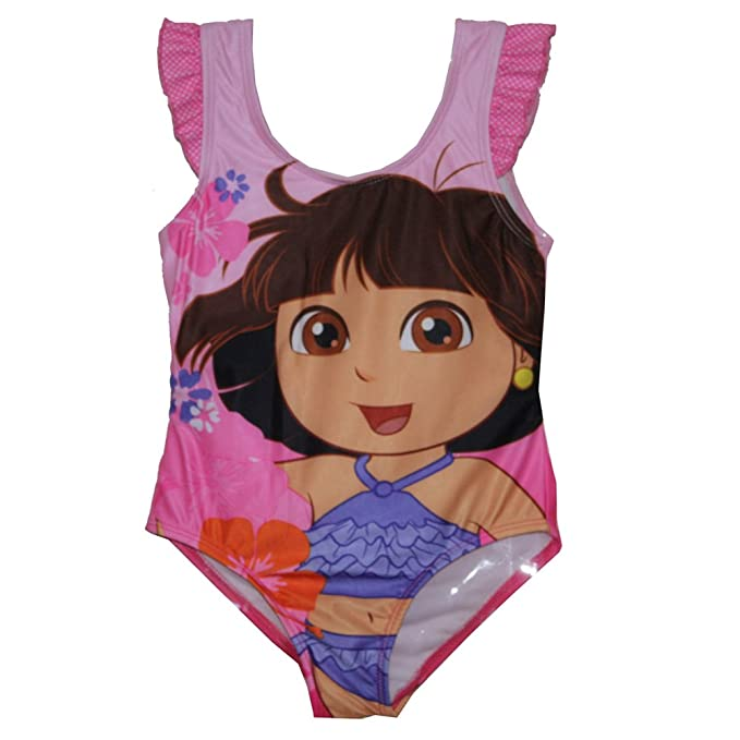 07ceeb9328516 Amazon.com: Dora The Explorer Baby Girls' Swim Bathing Suit ...