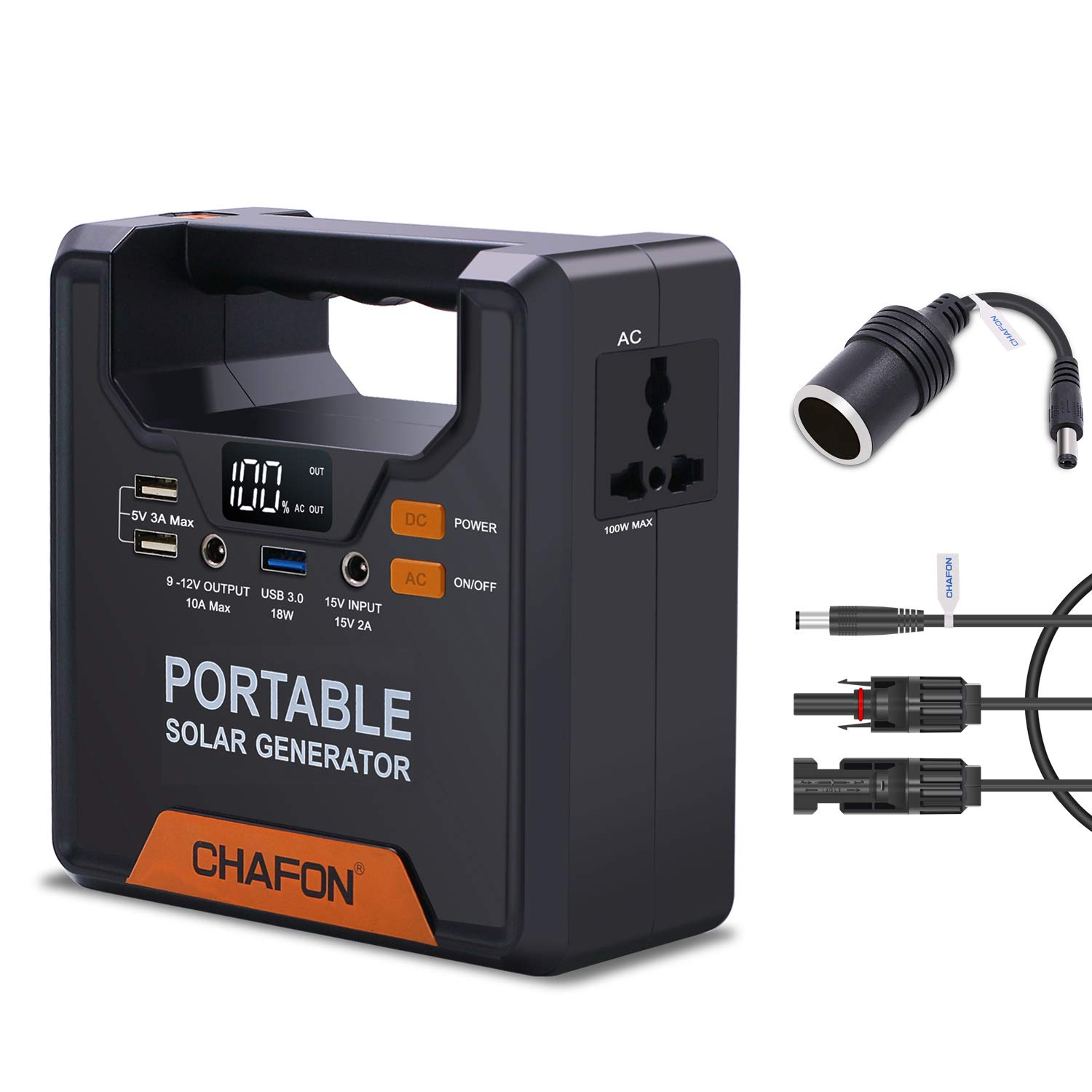 133WH Portable Generator Power Supply Home Emergency Power Station CPAP Battery Backup Pack with 110V/ 100W AC inverter Outlet for Outdoor Camping Hunting Travel