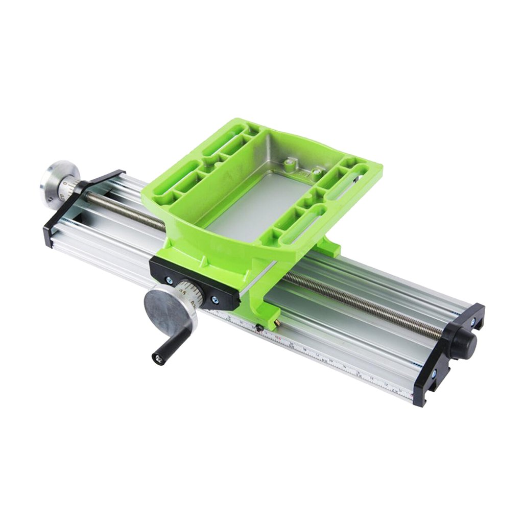 MonkeyJack 2 Axis Milling Compound Working Table Cross Sliding Bench Drill Vise Fixture