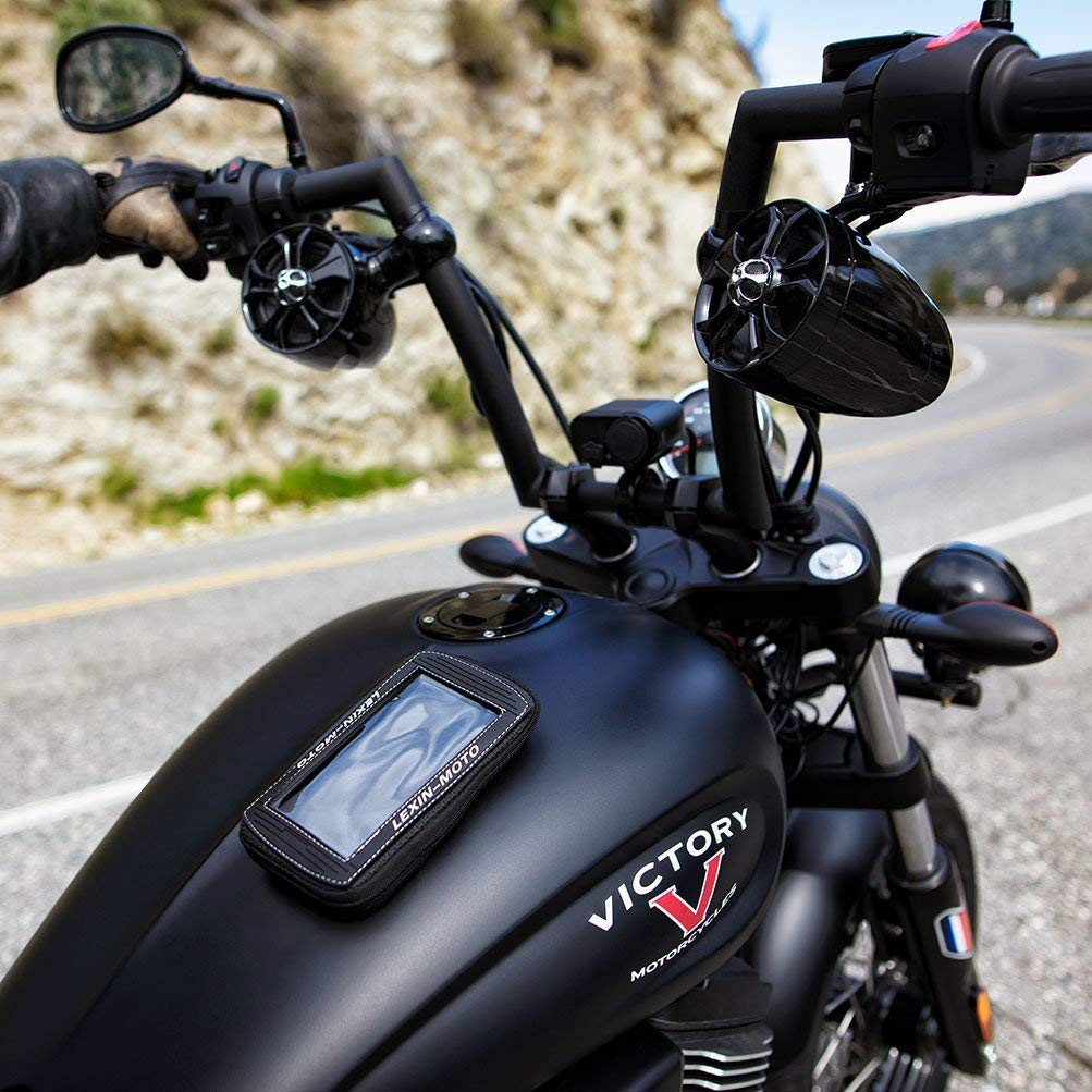 Tasche Handyhalter Sportbike Magnetische Tankrucksack LEXIN MTB03 Gro/ße Gr/ö/ße Schwarz Super Cool Motorrad Fall Bis 6,5