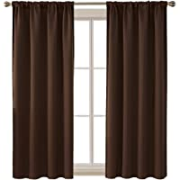 Deconovo Rod Pocket Blackout Curtains Room Darkening Window Curtain Drapes-42in