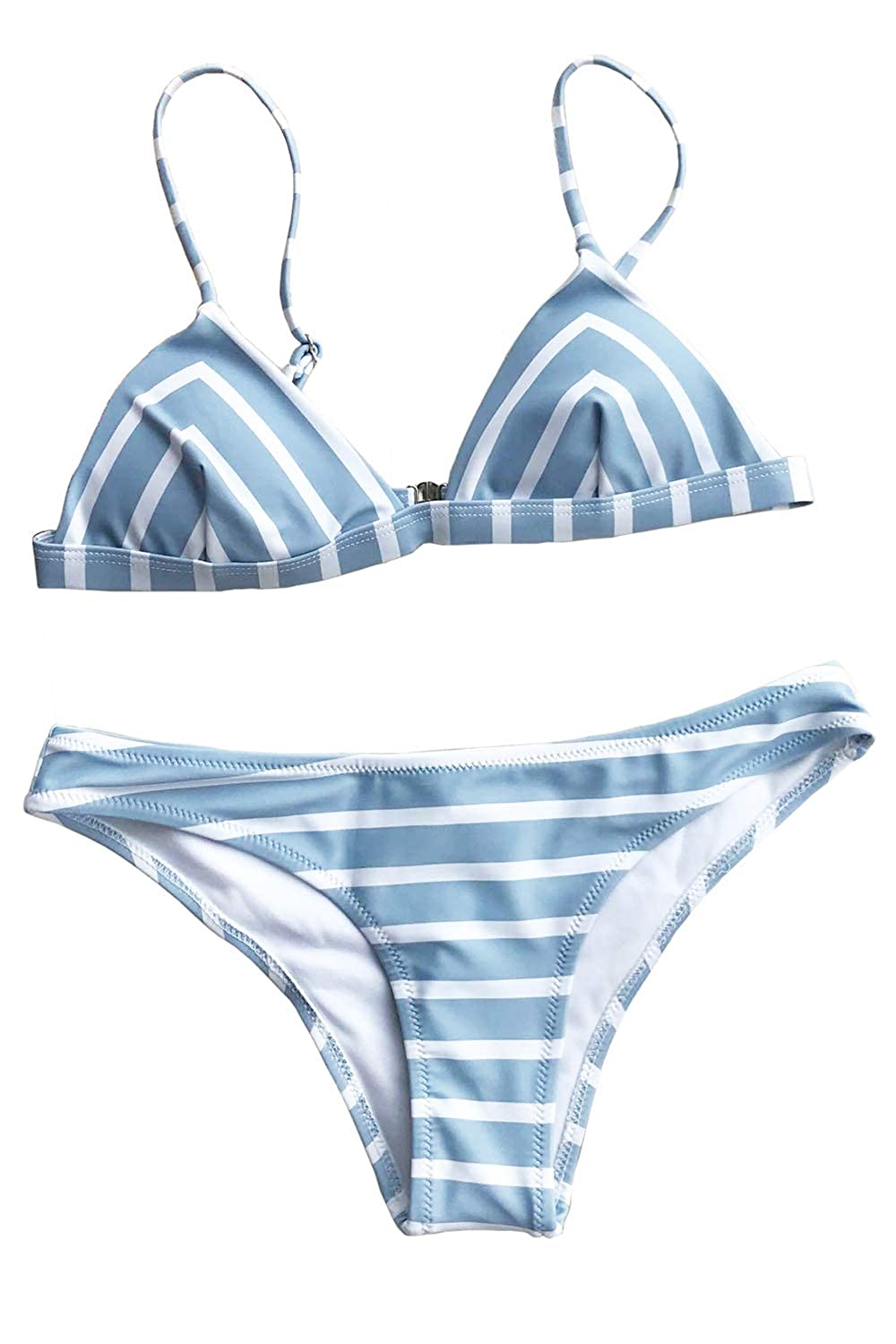 CUPSHE Women's Stripe Printing Bikini Set Swimwear Beach Bathing Suit CUPSHE FASHION
