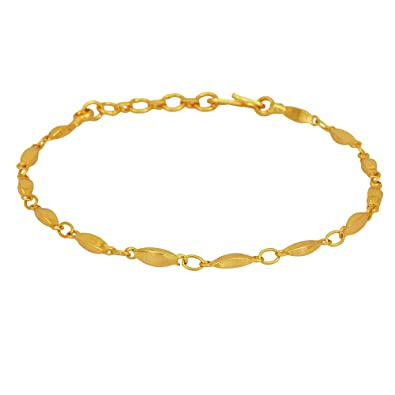 3aa88081f Memoir Gold Plated Rice Grain Design Linked Simple Sober, Light Weight Fashion  Bracelet Women Girls Latest: Amazon.in: Jewellery