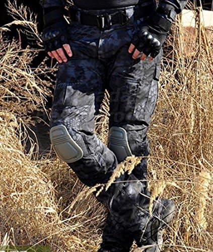 Pantalones de combate para hombres tipo uniforme BDU Uniforme de batalla tama/ño Medium fuerzas militares ideales para el ej/ército de WorldShopping4U juegos como airsoft y paintball color T con rodilleras de protecci/ón
