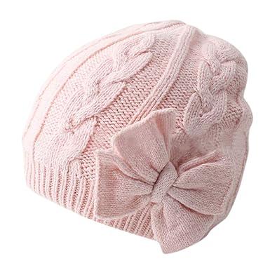 DAY8 Bonnet Bébé Fille Hiver Chaud Bowknot Enfants Fille Chapeaux Tricotés Bonnet  Bébé Fille Unisexe Garçon 1-2 Ans Automne Hat Casquette Pas Cher Mode ... 073033d743c