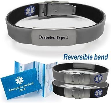 collar médico para diabetes tipo 1