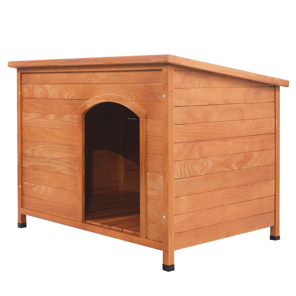 Generic .. t Comfy Home Shelter Large rge Kennel Wea 45 x31 x32  Wood Dog 45 x Kennel Weather og House P House Pet 32  Woo Resistant Comfy Home