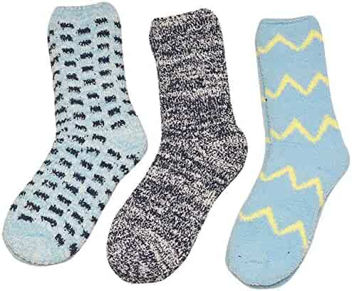 5ee39e60fe8 Gold Medal Girls Blue Grey Chevron Geometric Pattern 3 Pc Pack Socks 9-11