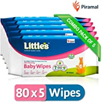 Little's Soft Cleansing Baby Wipe (80 Wipes)- Pack of 5