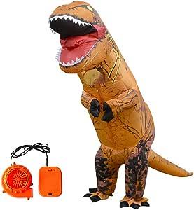 Egosy Vestido Divertido del Disfraz del Partido del Dinosaurio T ...
