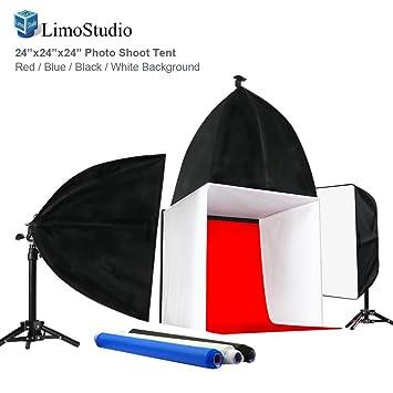 Amazon limostudio photo shoot tent 24 inch with color limostudio photo shoot tent 24 inch with color background lightbulb soft box aloadofball Images
