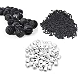UMINO Fish Tank 250G Activated Carbon + 250G Ceramic Rings + 11 Bio Balls with Filter Bag