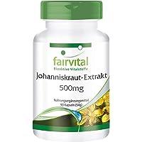 extrait de millepertuis de 500mg - 1 mois - végan - dosage élevé - 90 capsules - normalisé à 0,3% hypéricine