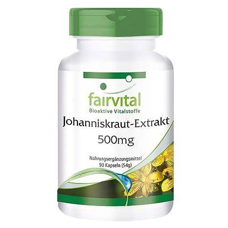 Extracto de hierba de San Juan - para 1 mes - VEGANO - Alta dosificación -