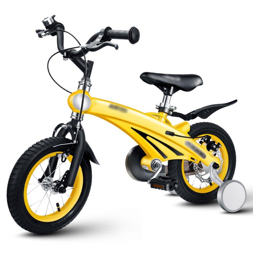 HAIZHEN マウンテンバイク 子供の自転車のサイズオプション12インチ14インチ16インチブルーピンクイエローシャンパンゴールド 新生児 B07C6STSH6 2 inch|イエロー いえろ゜ イエロー いえろ゜ 2 inch