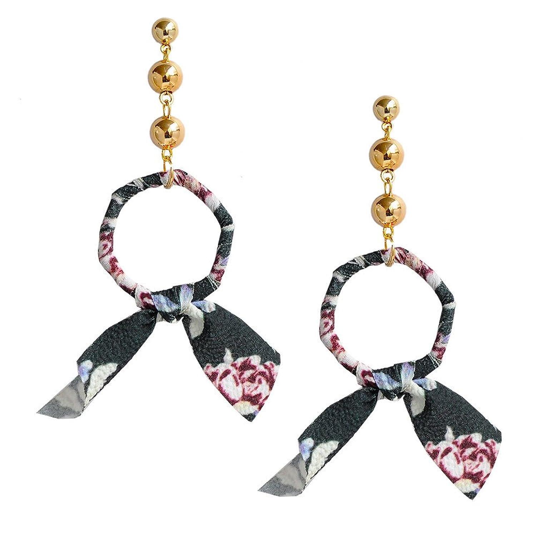 c951c82a6724 60% de descuento Dana Carrie Elegante y moderno frágil flor oreja tornillos  polígono Pajarita exagerada