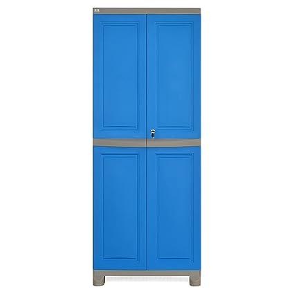 869604d1669 Nilkamal Freedom Big 1 (FB 1) Plastic Storage Cabinet (Deep Blue   Grey)   Amazon.in  Home   Kitchen