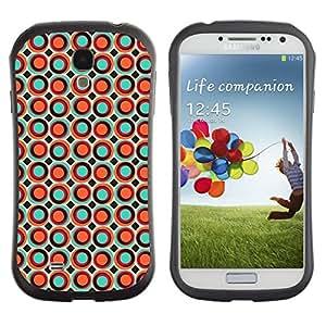 "Pulsar iFace Series Tpu silicona Carcasa Funda Case para SAMSUNG Galaxy S4 IV / i9500 / i9515 / i9505G / SGH-i337 , Puntos Puntos de la burbuja del papel pintado de naranja colorido"""